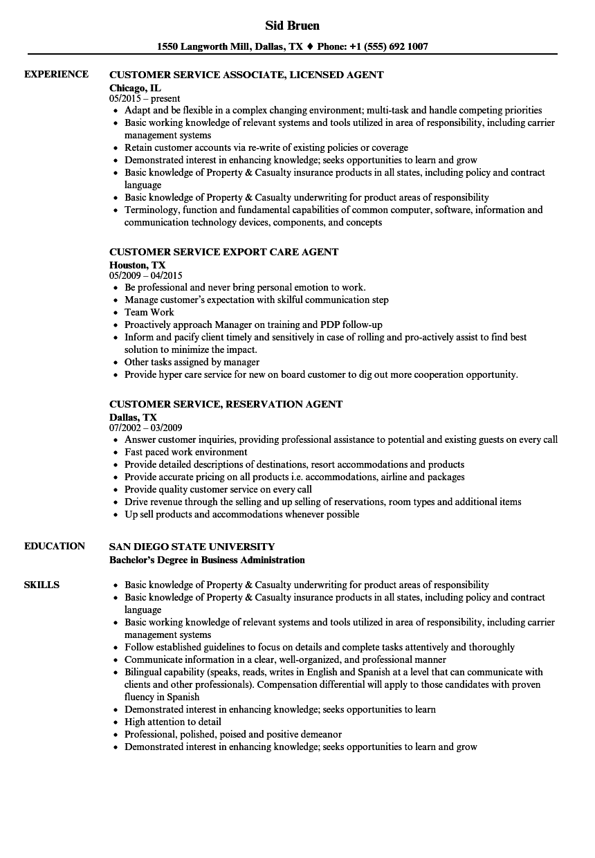 sample resume for customer service in logistics