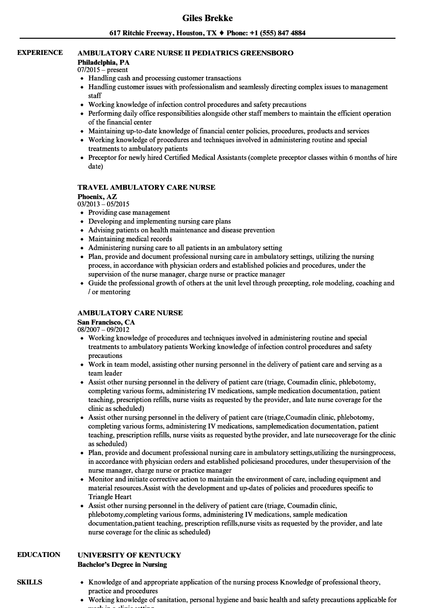 patient care manager resume sample