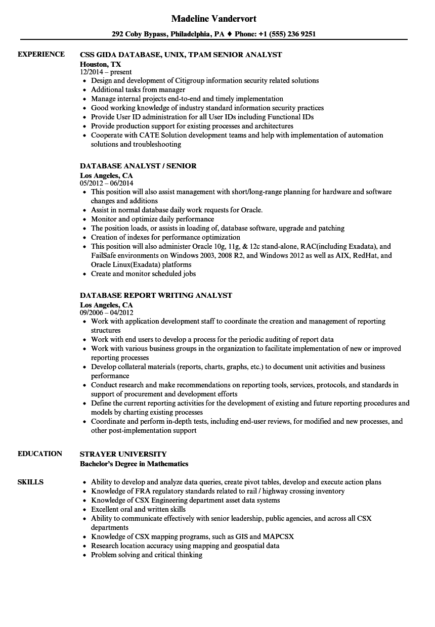 sample resume for data security analyst position
