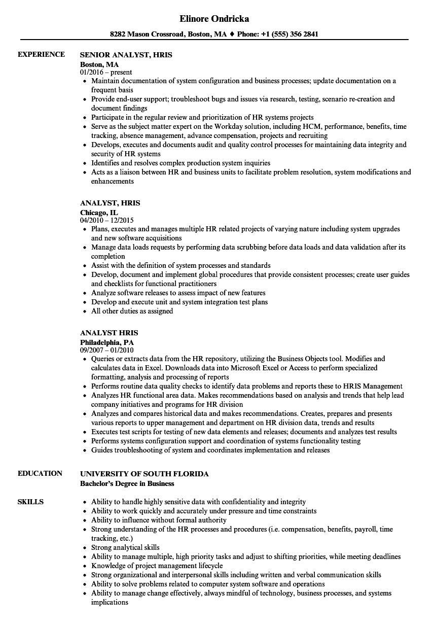 resume examples operations analyst