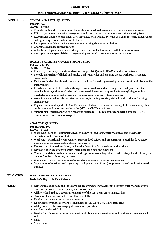 it asset management analyst resume sample