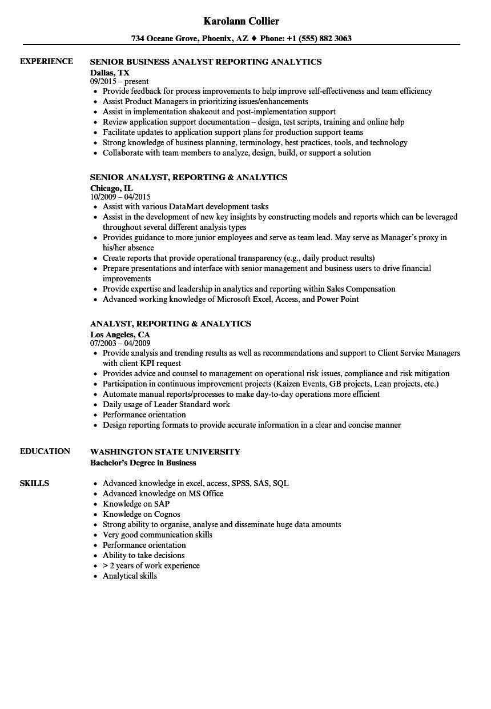 resume sample data analytics