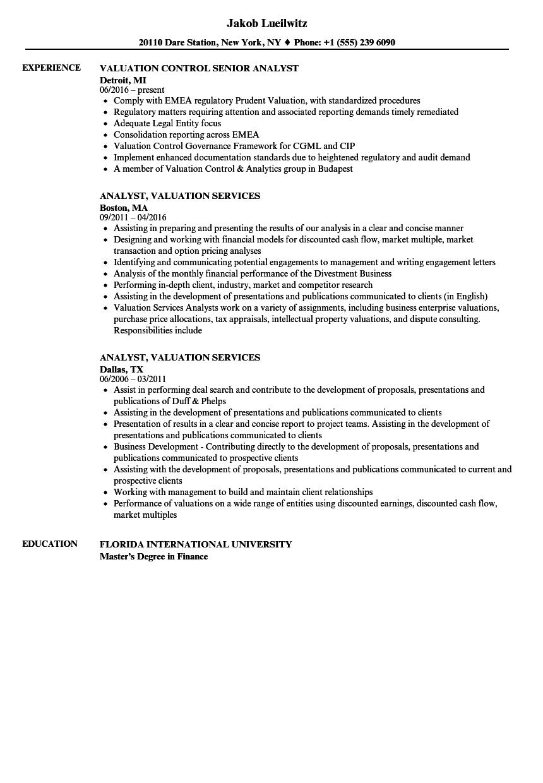 financial management analyst resume sample