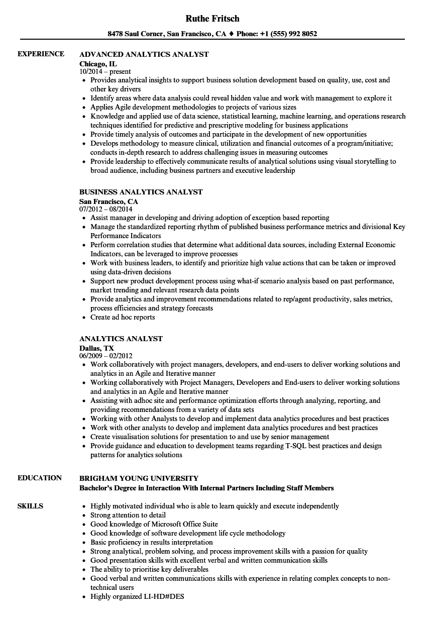 key skills in resume for business analyst