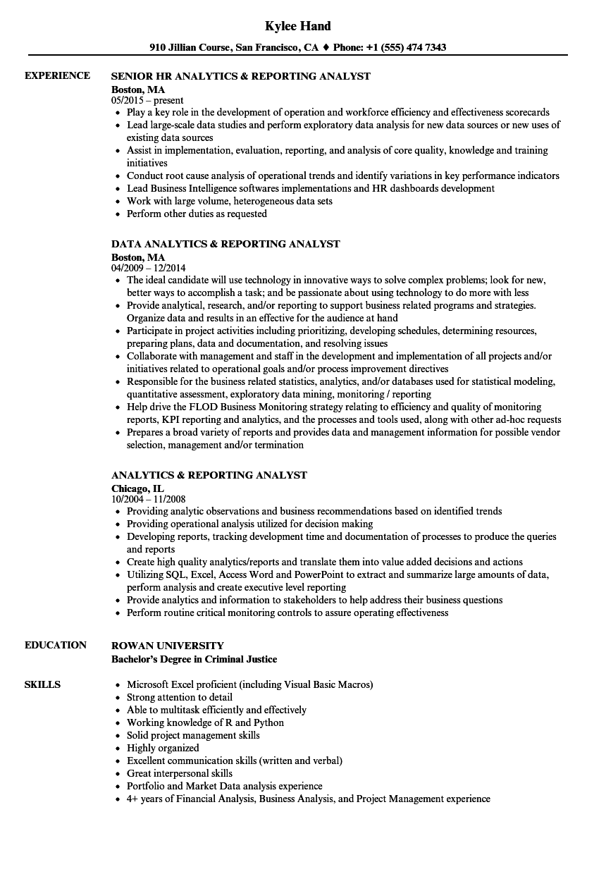 resume objective for data analyst