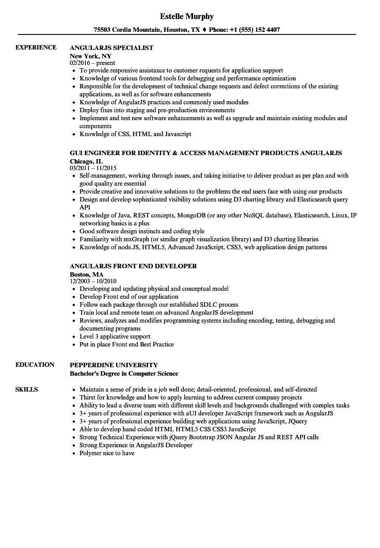 sample resume 5 years experience