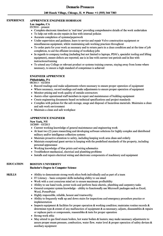 sample resume for stationary engineer