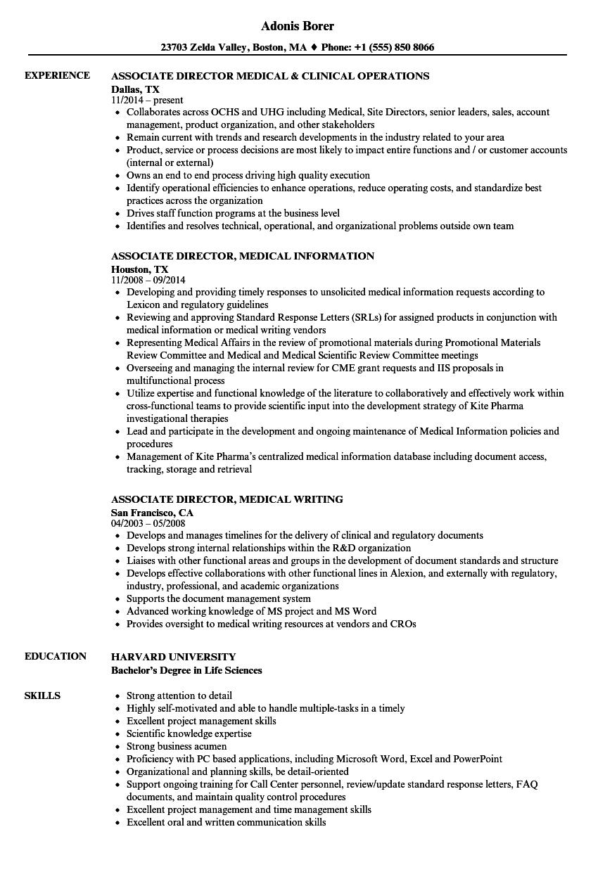 medical sample resume