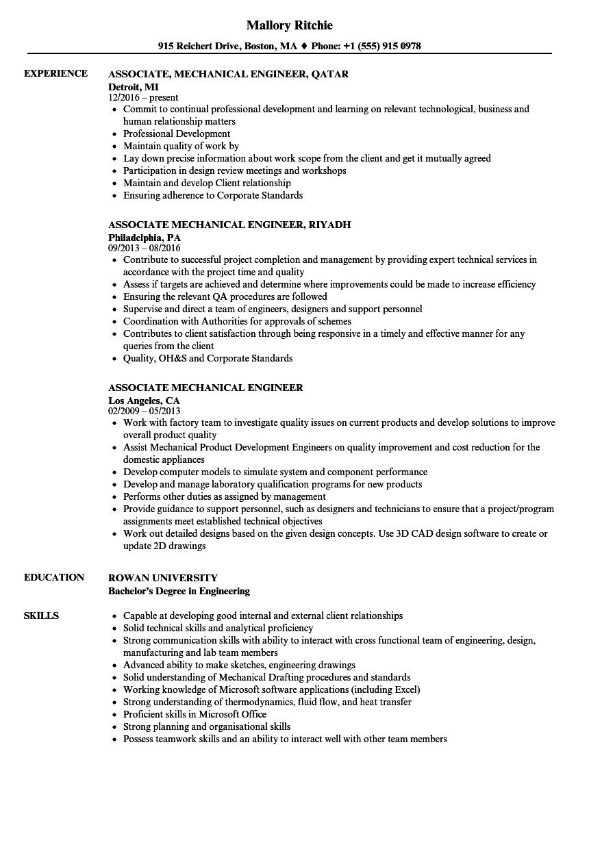 mechanical site engineer resume sample