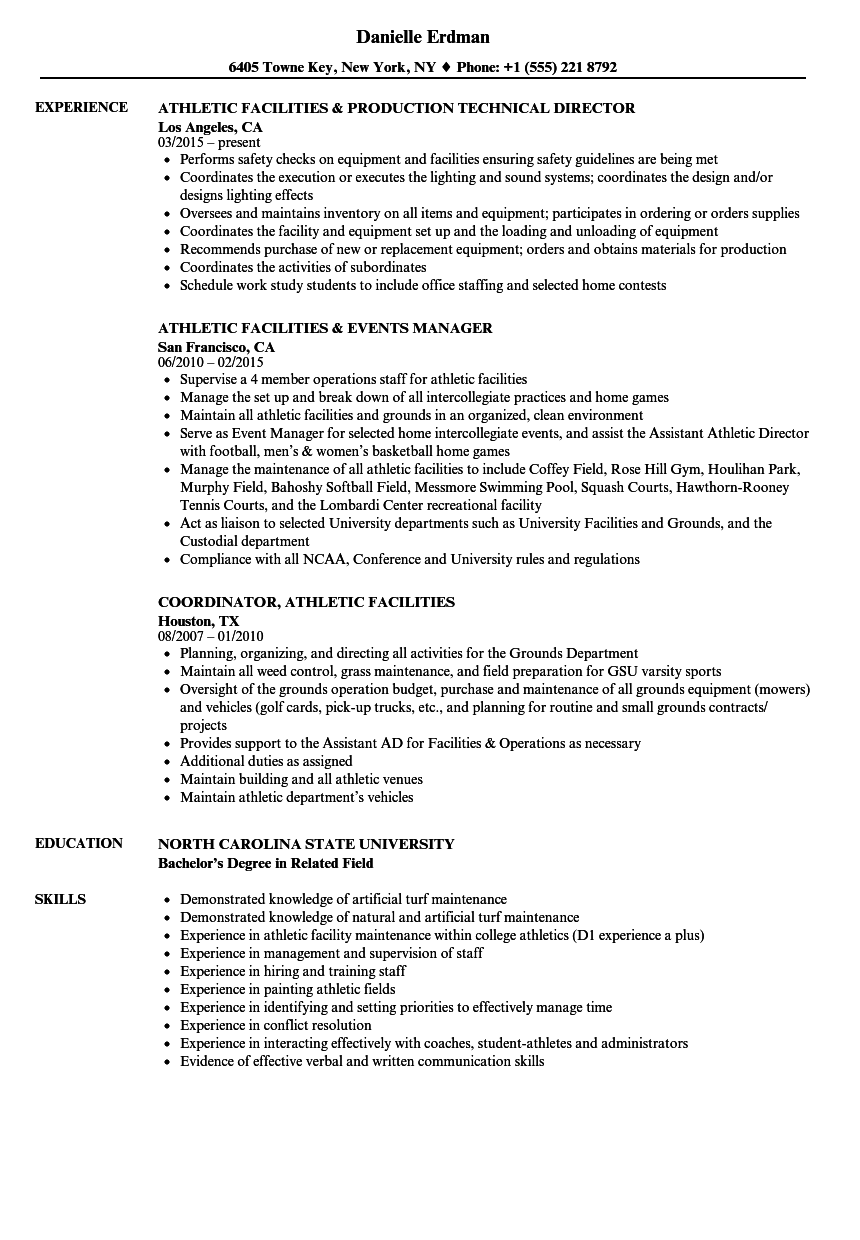tennis resume examples