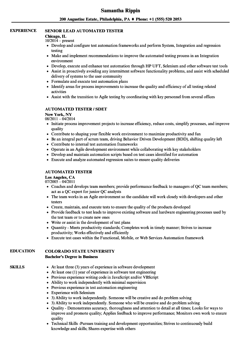 automated resume builder