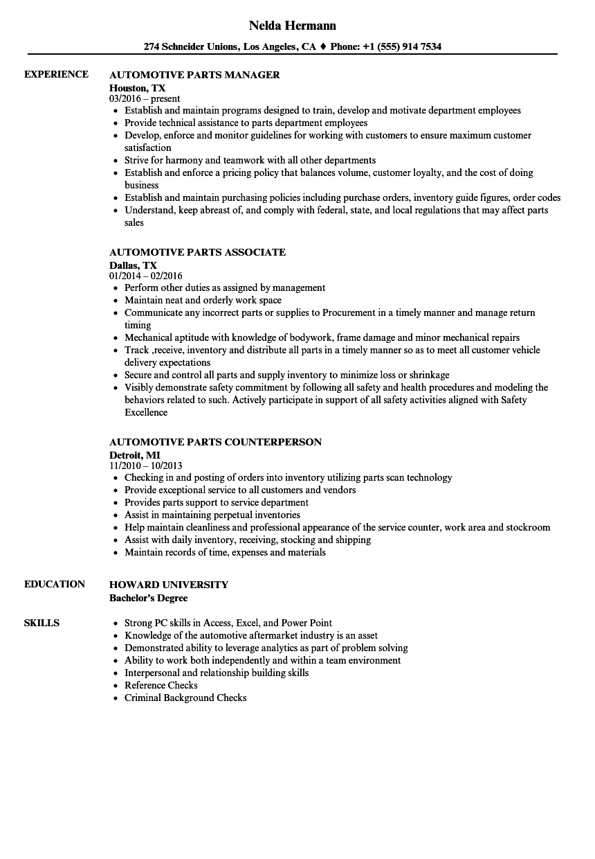 examples of promotions in a resume