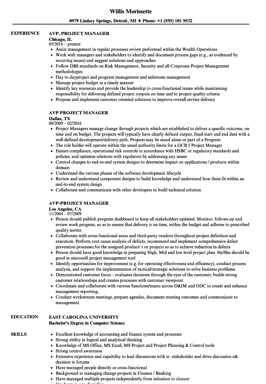 sharepoint project manager resume sample