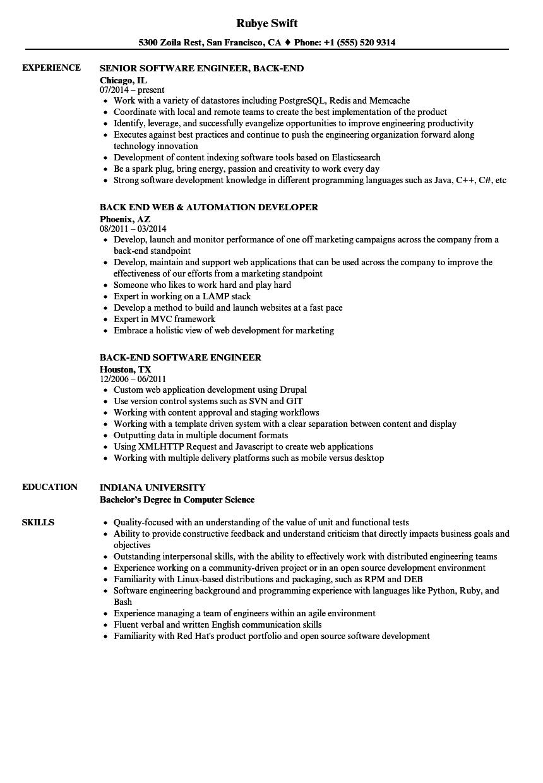 test driven development sample resume