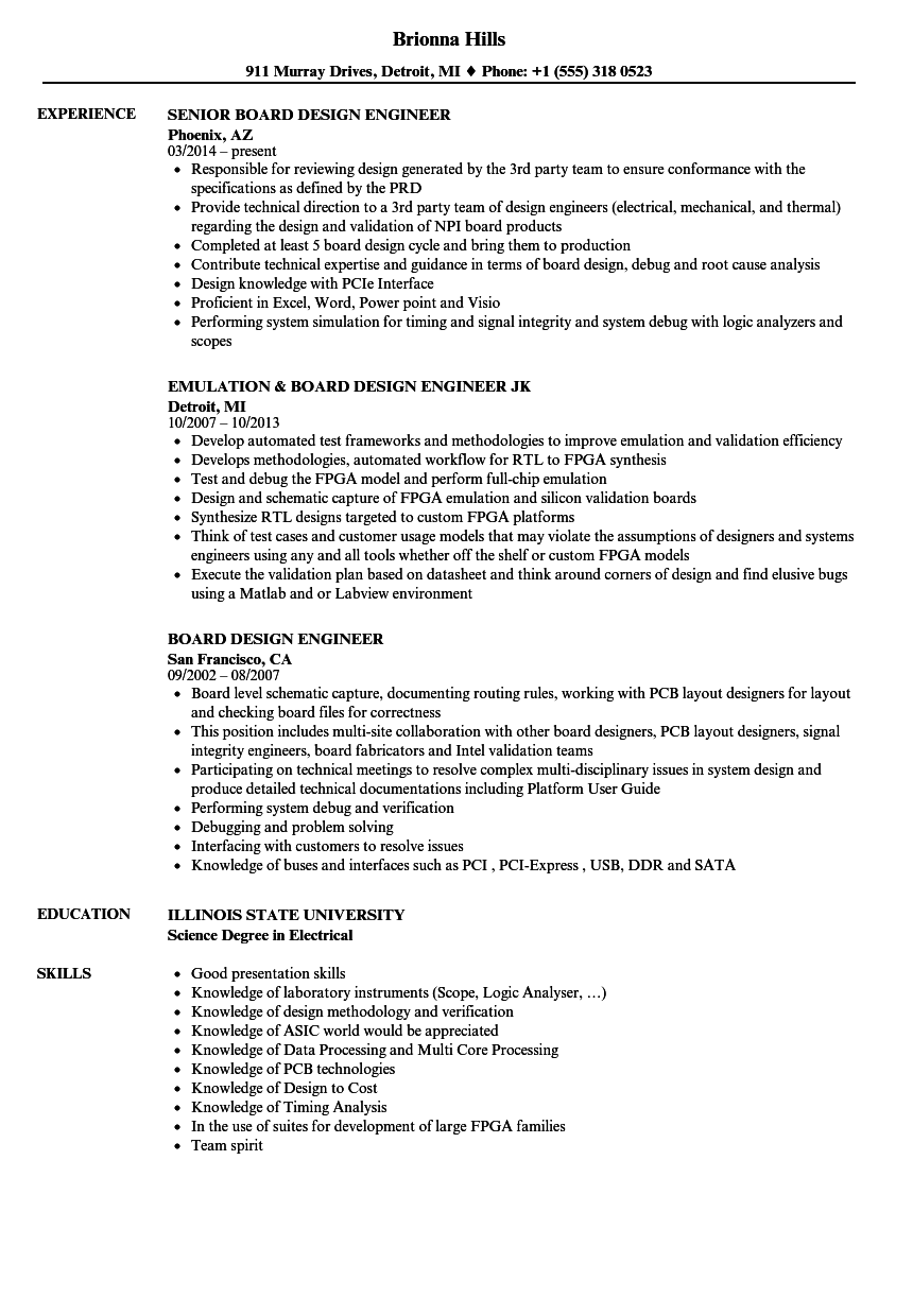 fpga resume sample