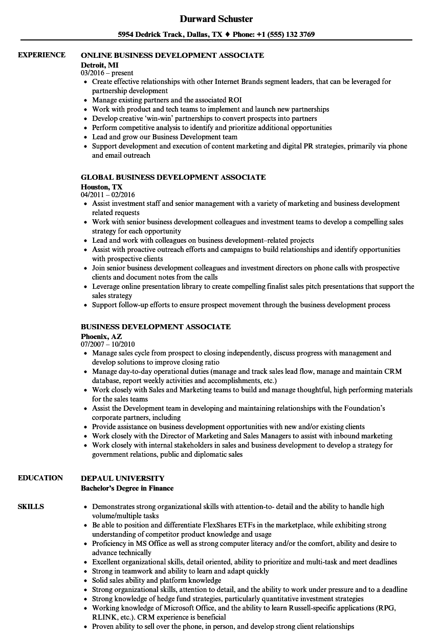 training and development director resume sample
