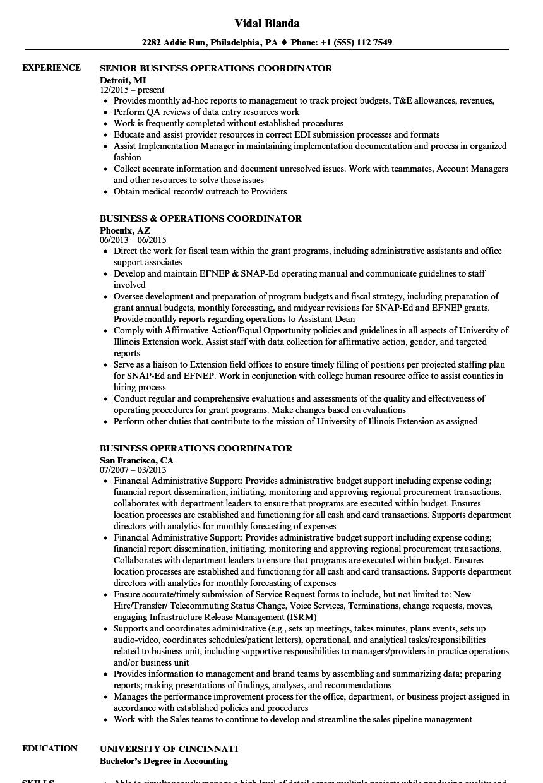 data center operations sample resume