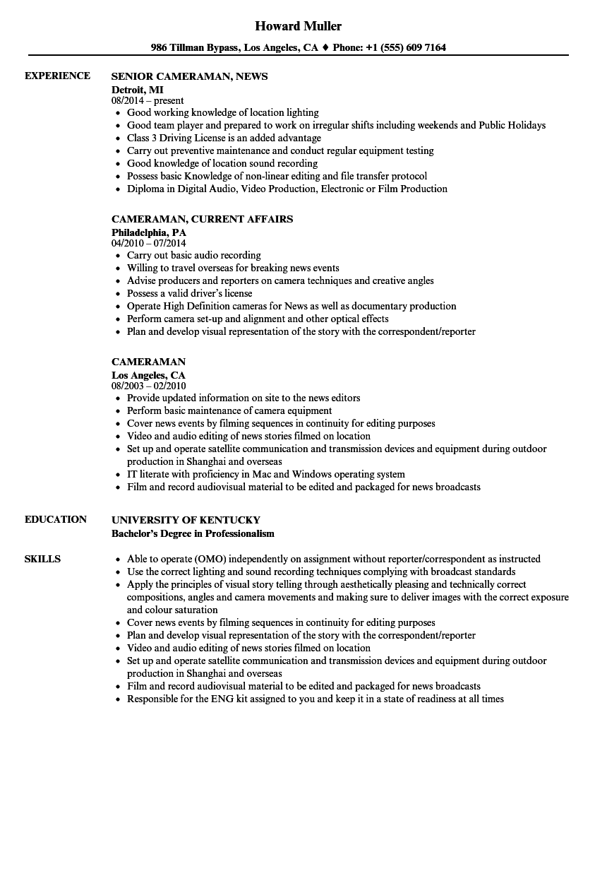 blogger resume samples