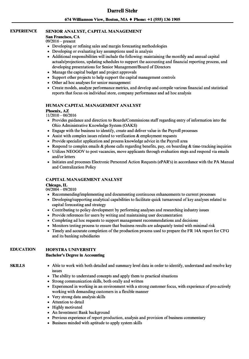 sample resume for workforce management