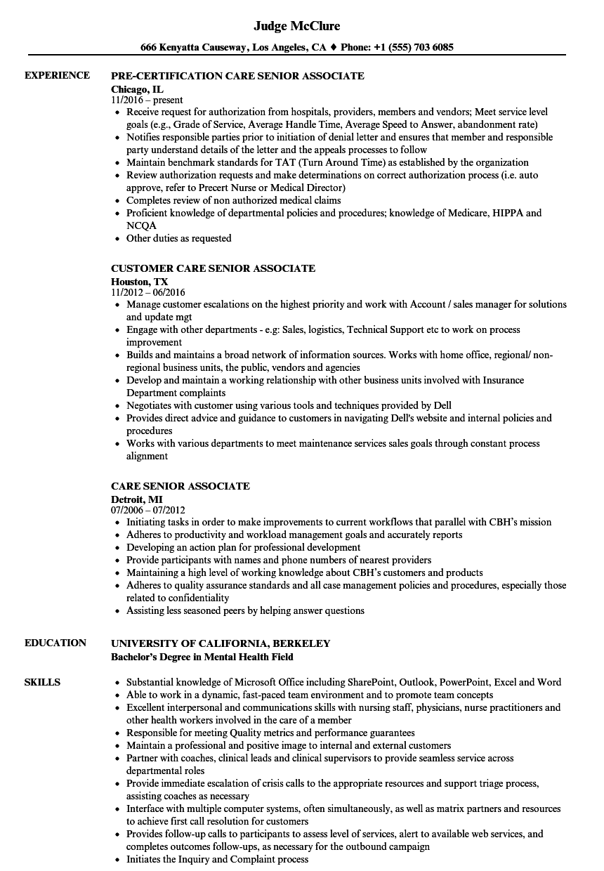 resume for healthcare jobs