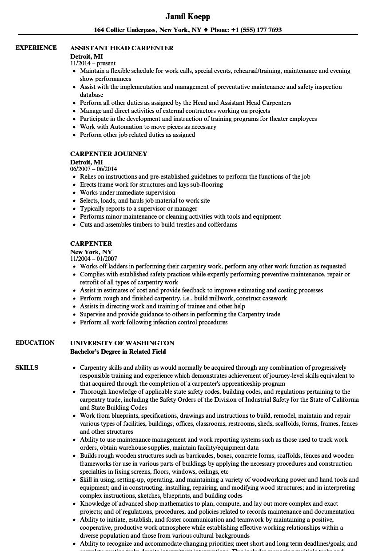 yard foreman resume