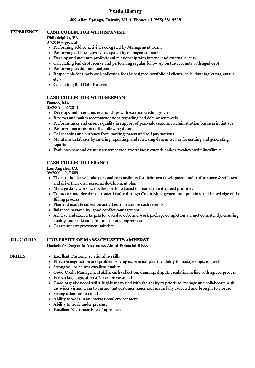 resume for order to cash process