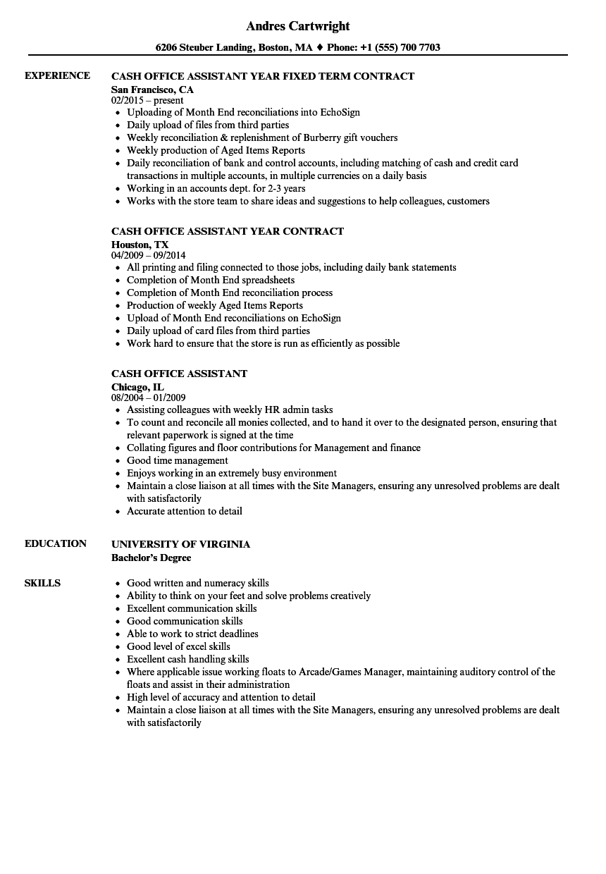assistant office manager sample resume