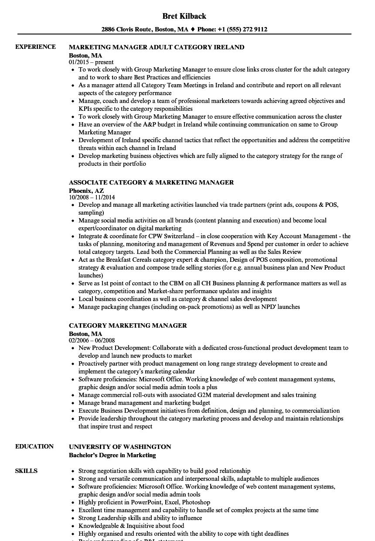 sales manager resume sample marketing