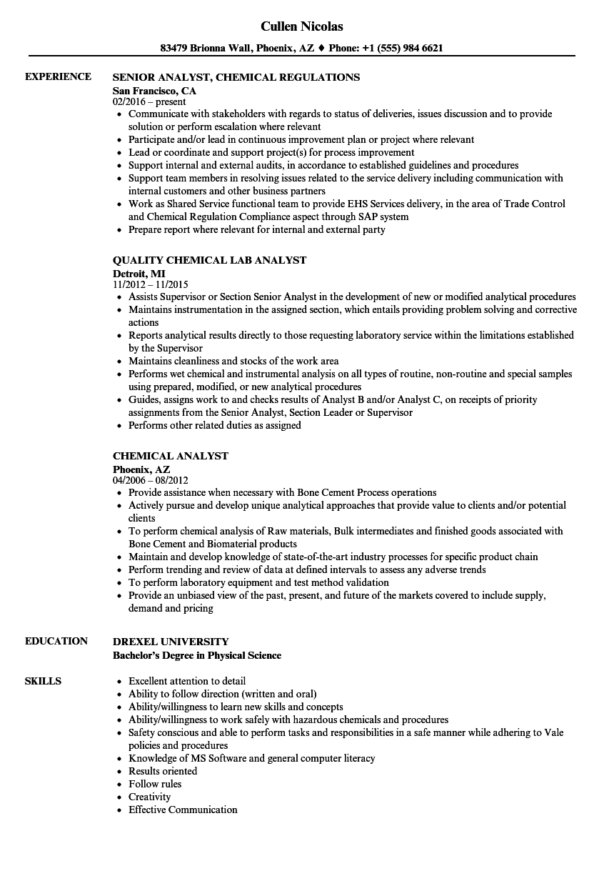 it software analyst sample resume