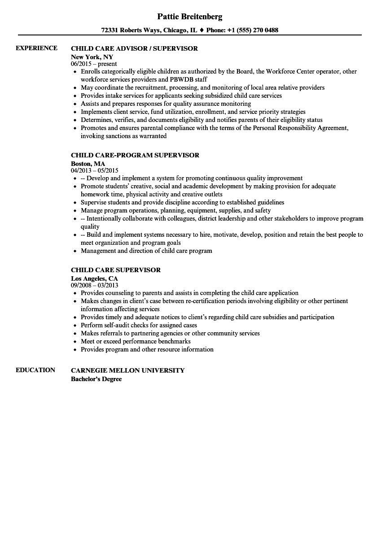 resume samples for child care teacher assistant