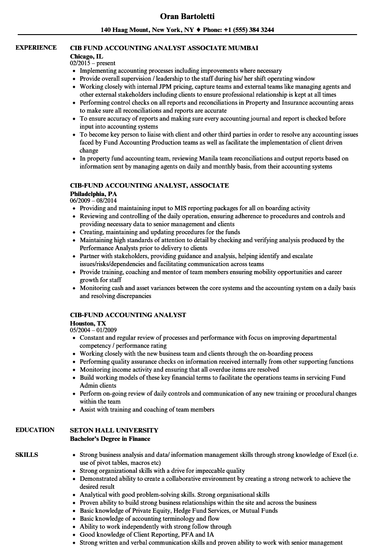 cib operations analyst resume samples