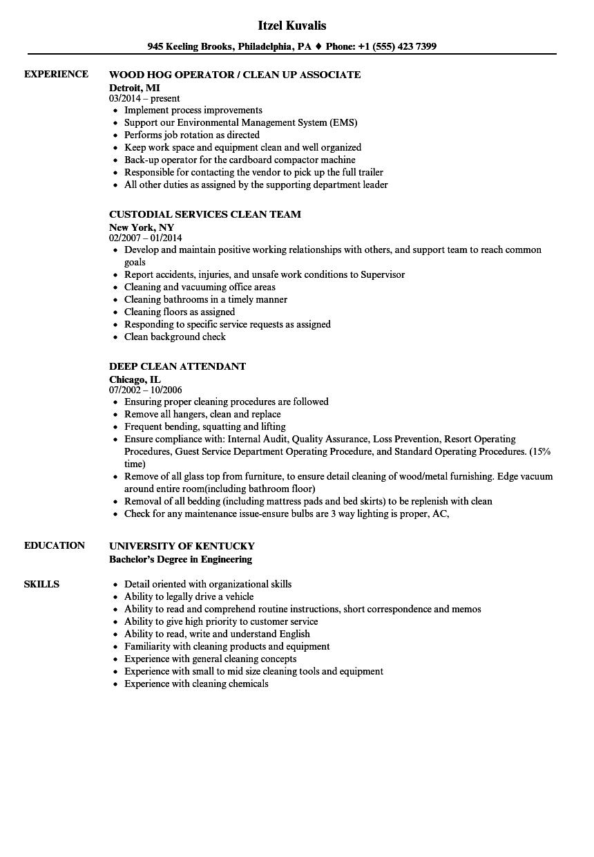 clean room resume sample