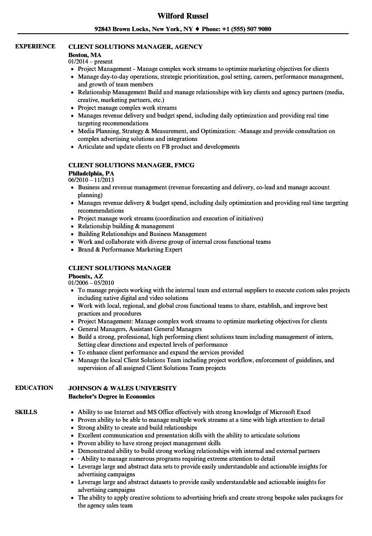 resume skills client