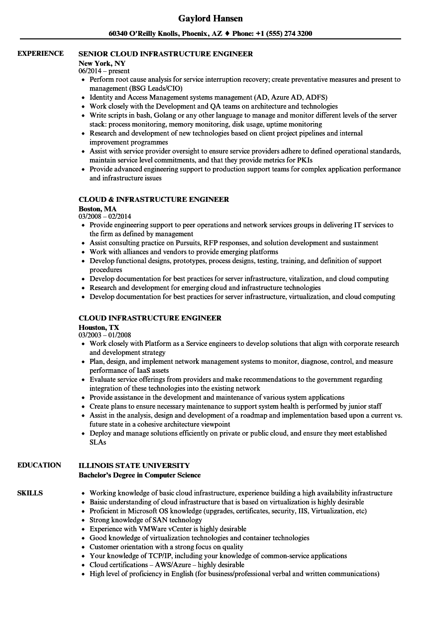 resume virtualization experience