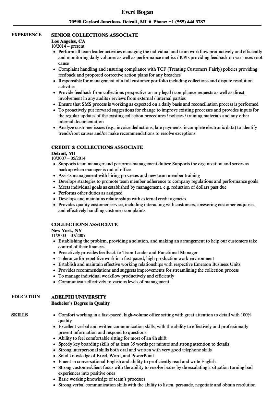resume sample for associate degree