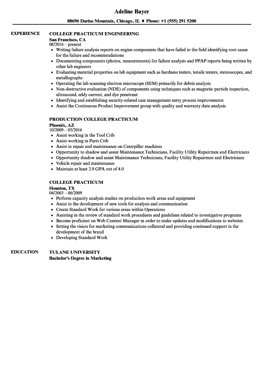 college resume sample download
