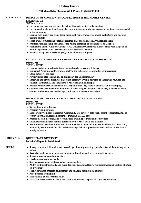 sample resume for leadership program