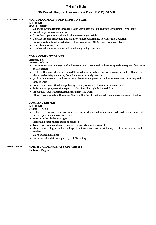 driver resume sample philippines