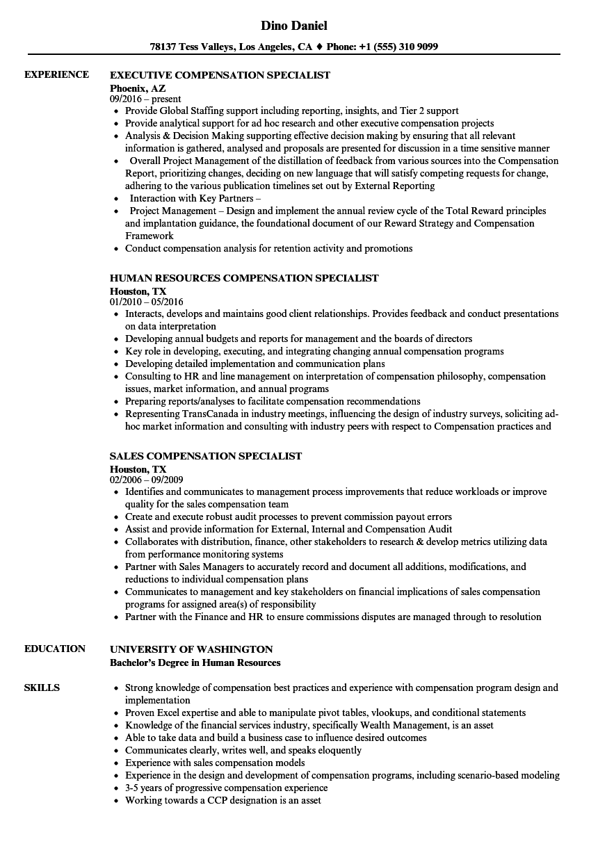 resume samples for state jobs