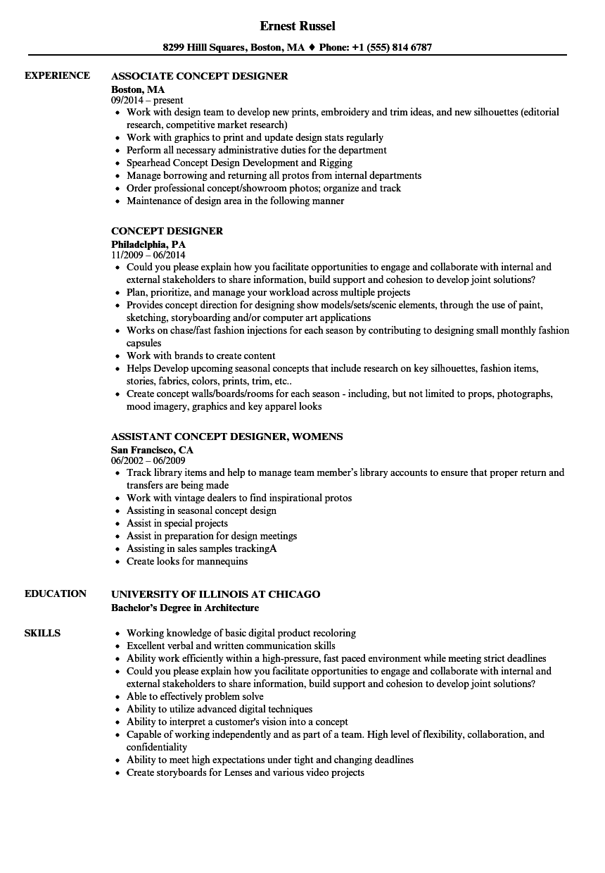resume quality examples