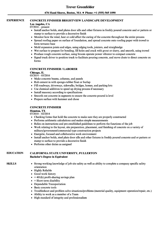 mason resume sample