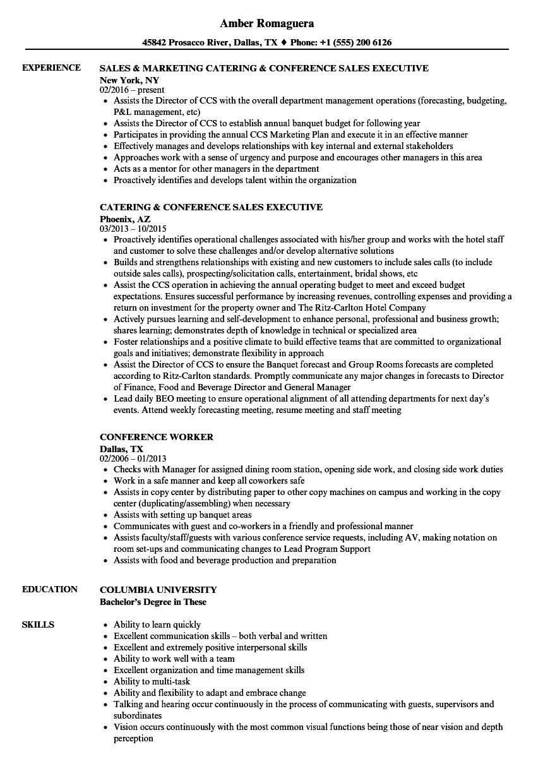 resume conference presentations sample