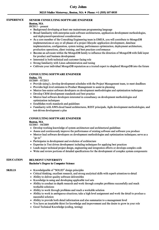 junior software engineer resume examples