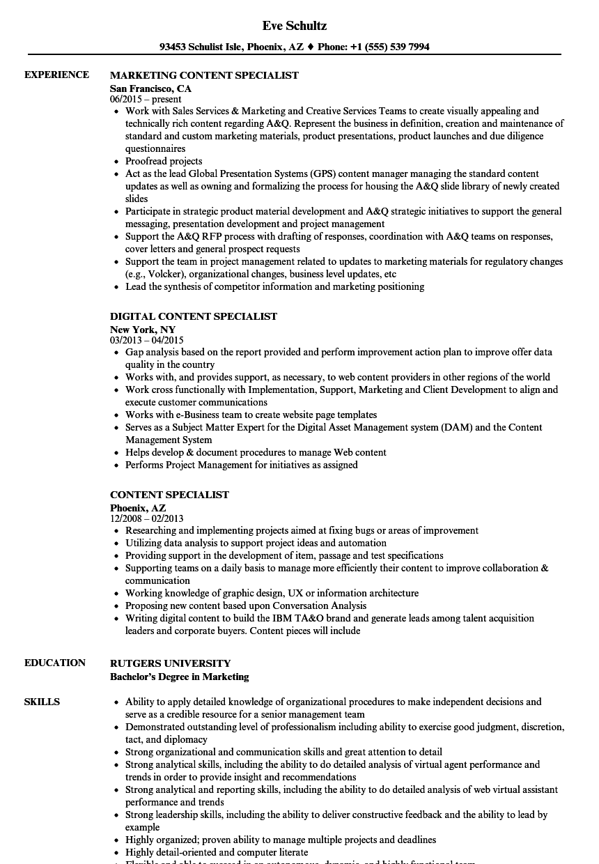 data specialist resume samples