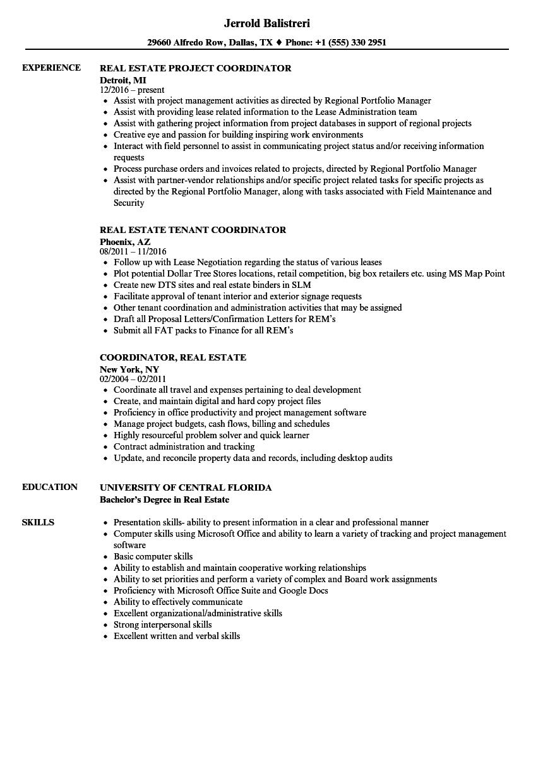 sample resume of office coordinator