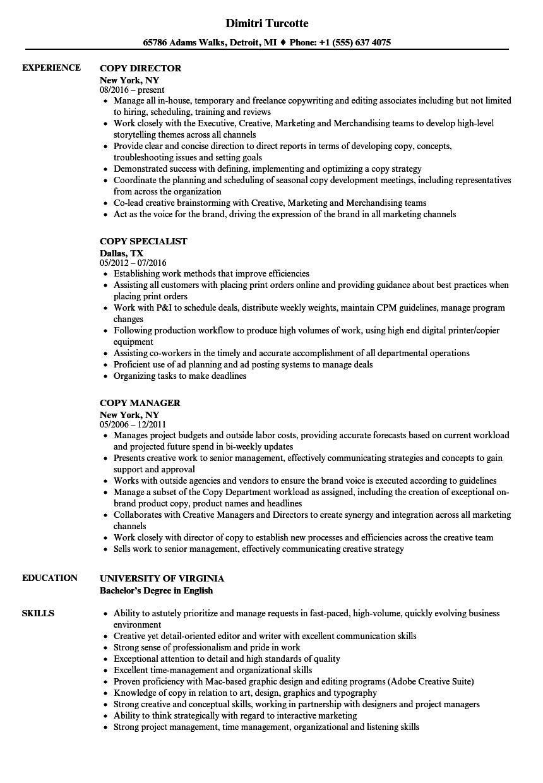 associate editor sample resume