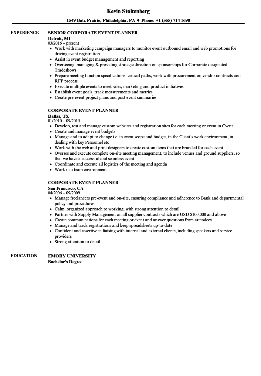sponsorships manager resume samples