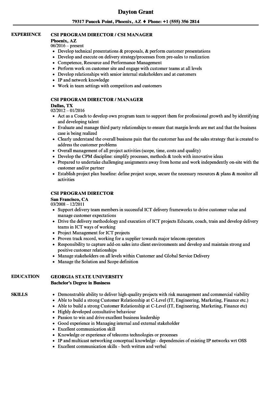 sample resume copies