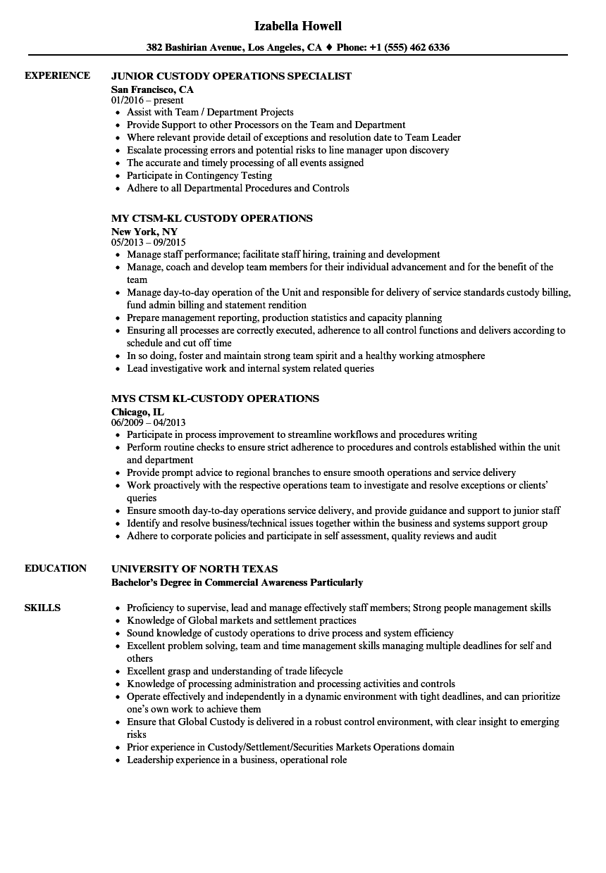 download operations manager resume sample