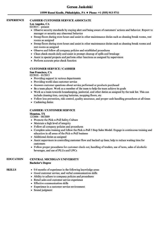 resume description for bookstore